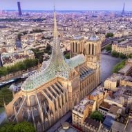Vincent Callebaut proposes a roof that generates energy and food for Notre-Dame Cathedral