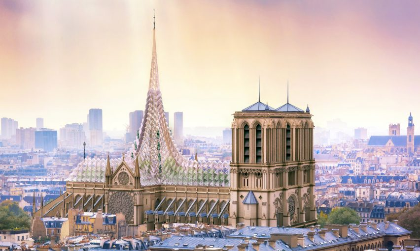 Notre-Dame roof and spire proposal by Vincent Callebaut