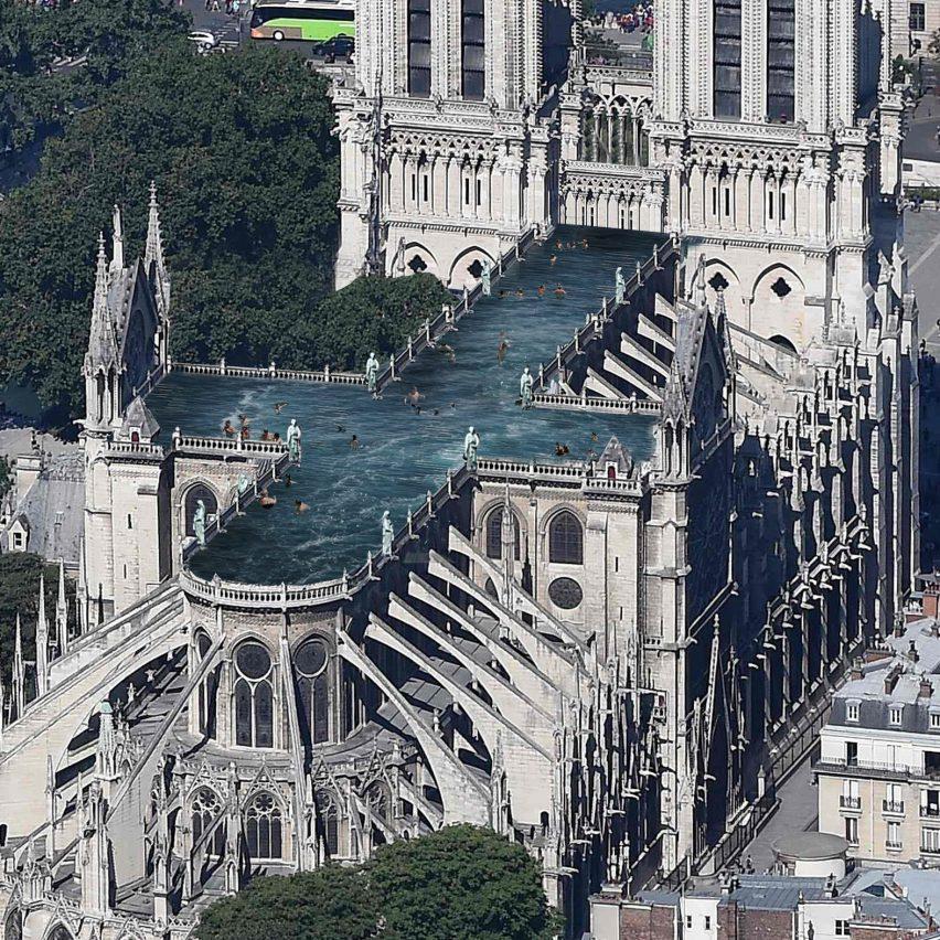 Dezeen's top 10 architecture trends 2019: Notre-Dame outrageous proposals