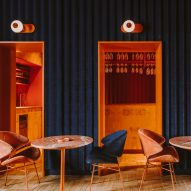 Colours clash inside Warsaw's Opasly Tom restaurant by Buck Studio