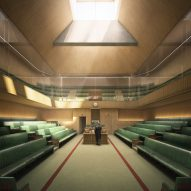 Plans unveiled for temporary UK Parliament designed by AHMM
