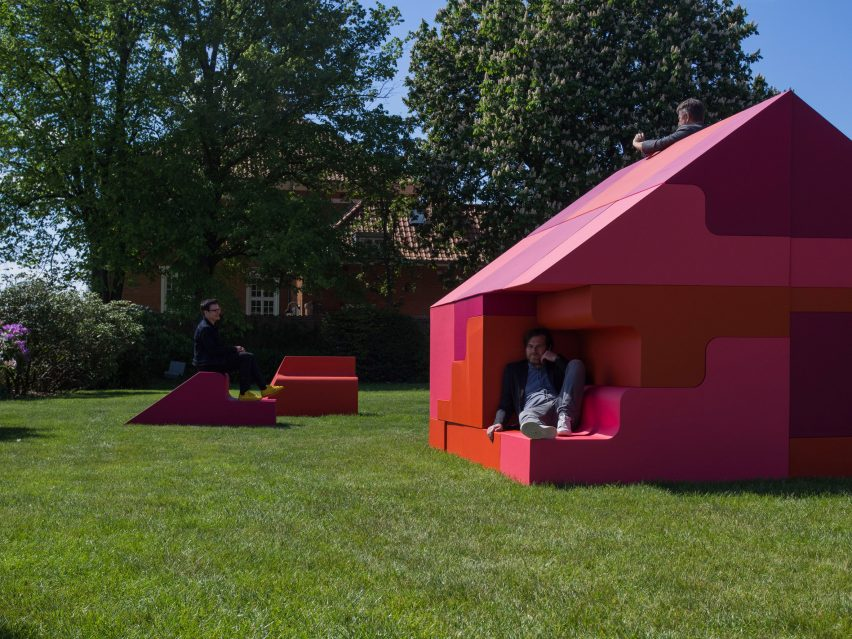 Puzzle House installation by Bjarke Ingels and Simon Frommenwiler