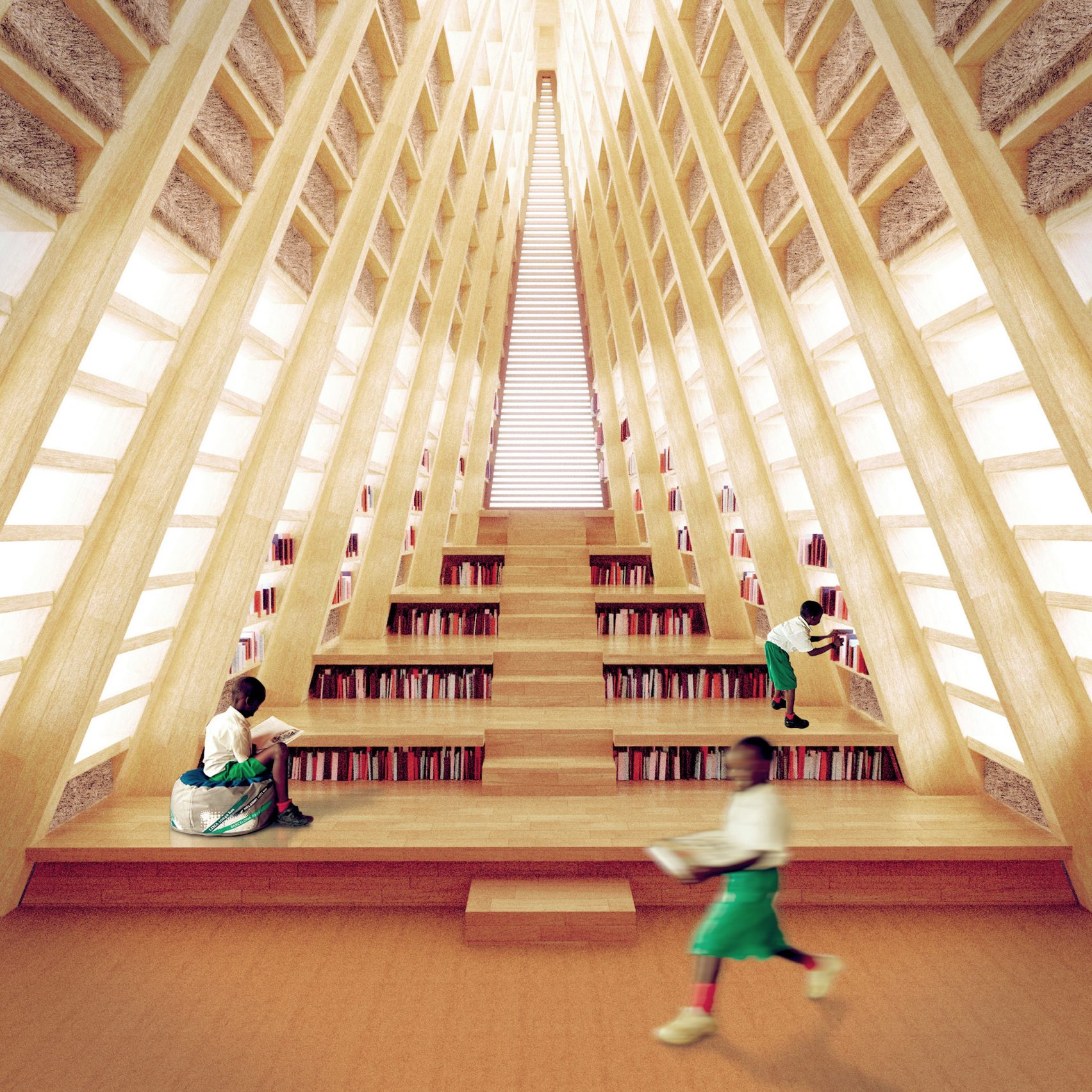 Visuals of Straw Bale School by Nudes