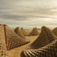 Stacked straw bales form walls for conceptual school in Malawi by Nudes