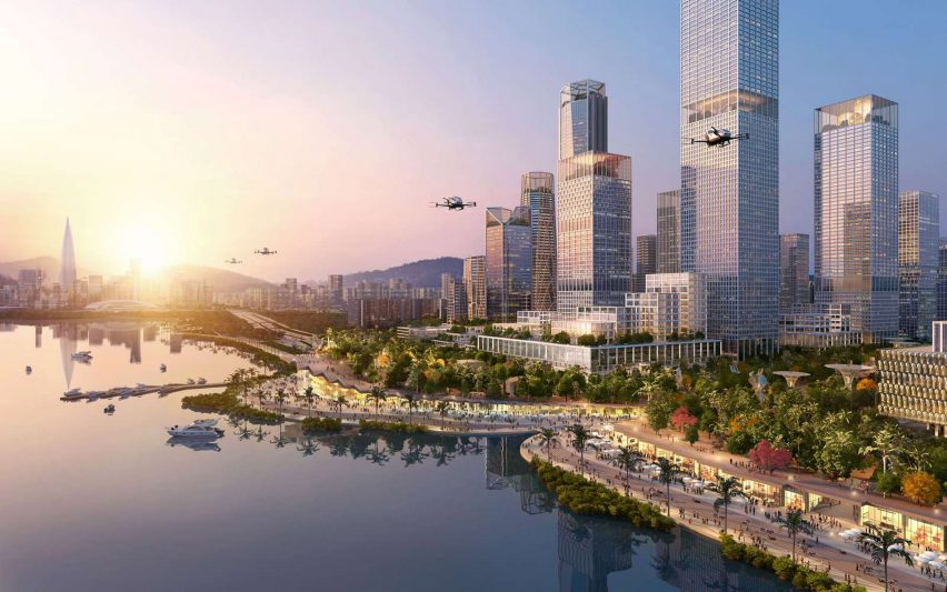Shenzhen Bay Headquarters City by Henning Larsen