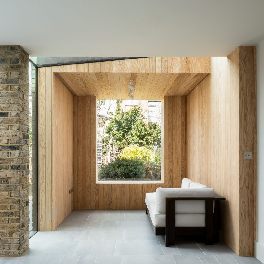 Snug House by Proctor & Shaw features cosy room overlooking the garden