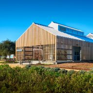 CAW Architects creates cluster of agrarian buildings for Stanford Educational Farm