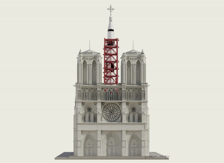 "Designer Sebastian Errazuriz has designed a space rocket launch pad for Notre-Dame in an ""act of creative one-upmanship"" to demand an end to architects' proposals."