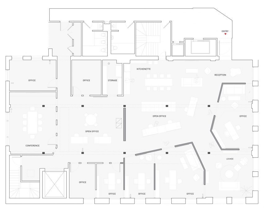 Interesting office floor plans