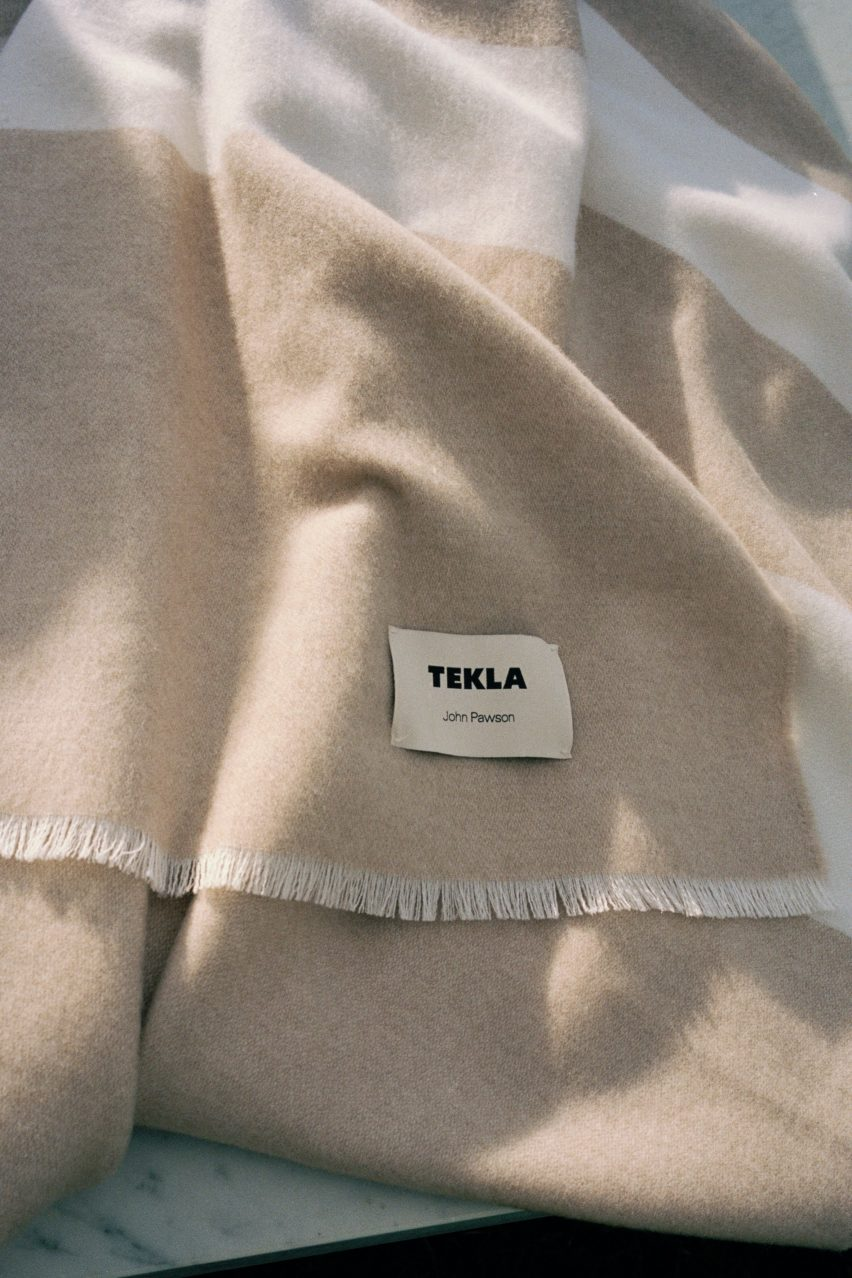 John Pawson blankets for Tekla Fabrics