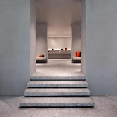 Valextra store in Milan designed by John Pawson