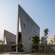 Vo Trong Nghia Architects connects six triangular pavilions to create zigzag office