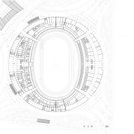 Ground floor plan of Wuyuanhe Stadium by GMP