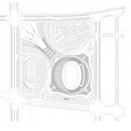 Site plan of Wuyuanhe Stadium by GMP