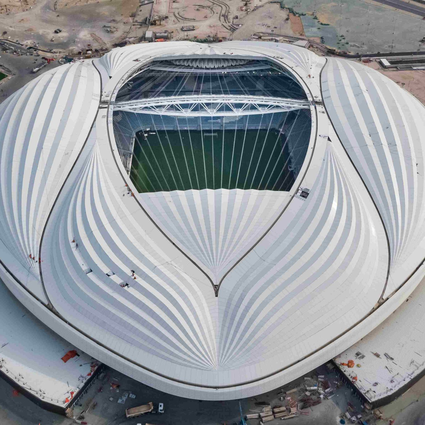 Dezeen's top 10 architecture trends 2019: Al Wakrah Stadium for the 2022 World Cup in Qatar by Zaha Hadid Architects