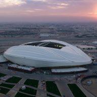 Al Wakrah Stadium built by Zaha Hadid Architects for World Cup in Qatar