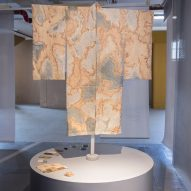 Nienke Hoogvliet's Kaumera Kimono is dyed with wastewater