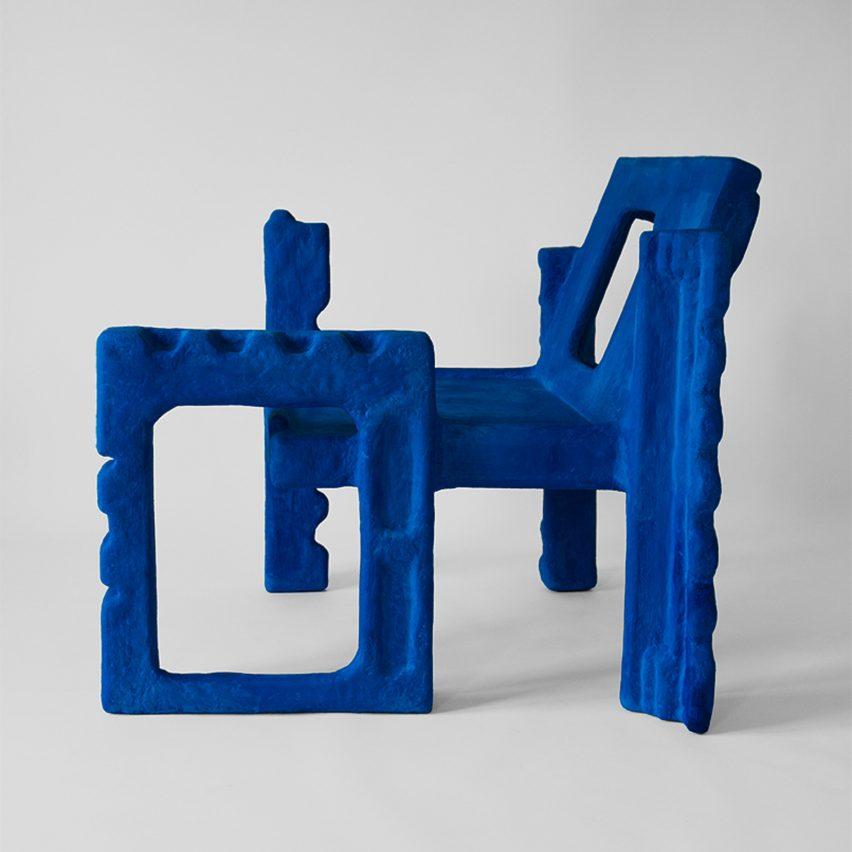 Savvas Laz transforms styrofoam packaging into Trashformers chair