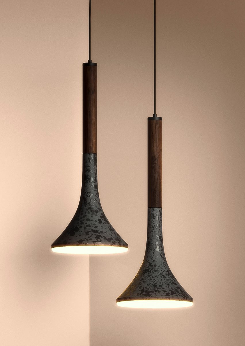 Aura lighting fixtures by Bandido Studio
