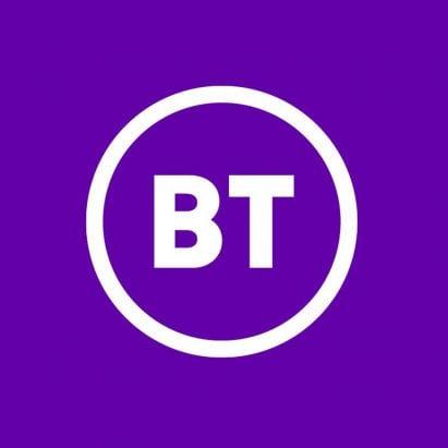 BT logo rebrand Red&White studio