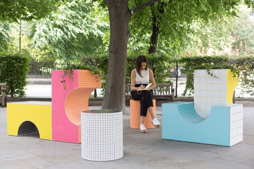 City Benches: City Blocks by Astrian Studio Architects at London Festival of Architecture