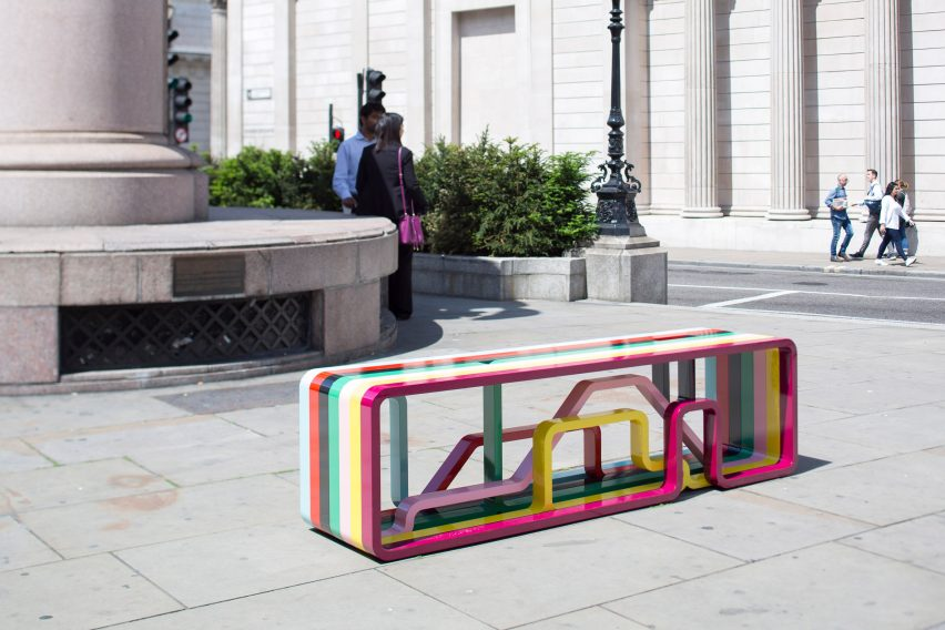 City Benches: Correlated Journeys by Sarah Emily Porter and James Trundle at London Festival of Architecture