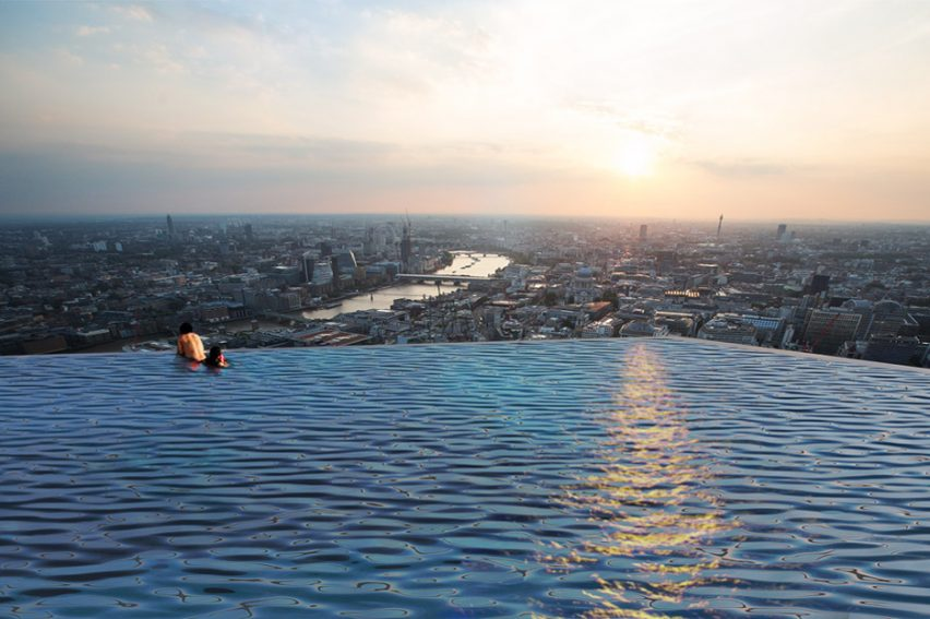 Compass Pools has unveiled a four-sided infinity pool designed to sit on a 220-metre tower in London