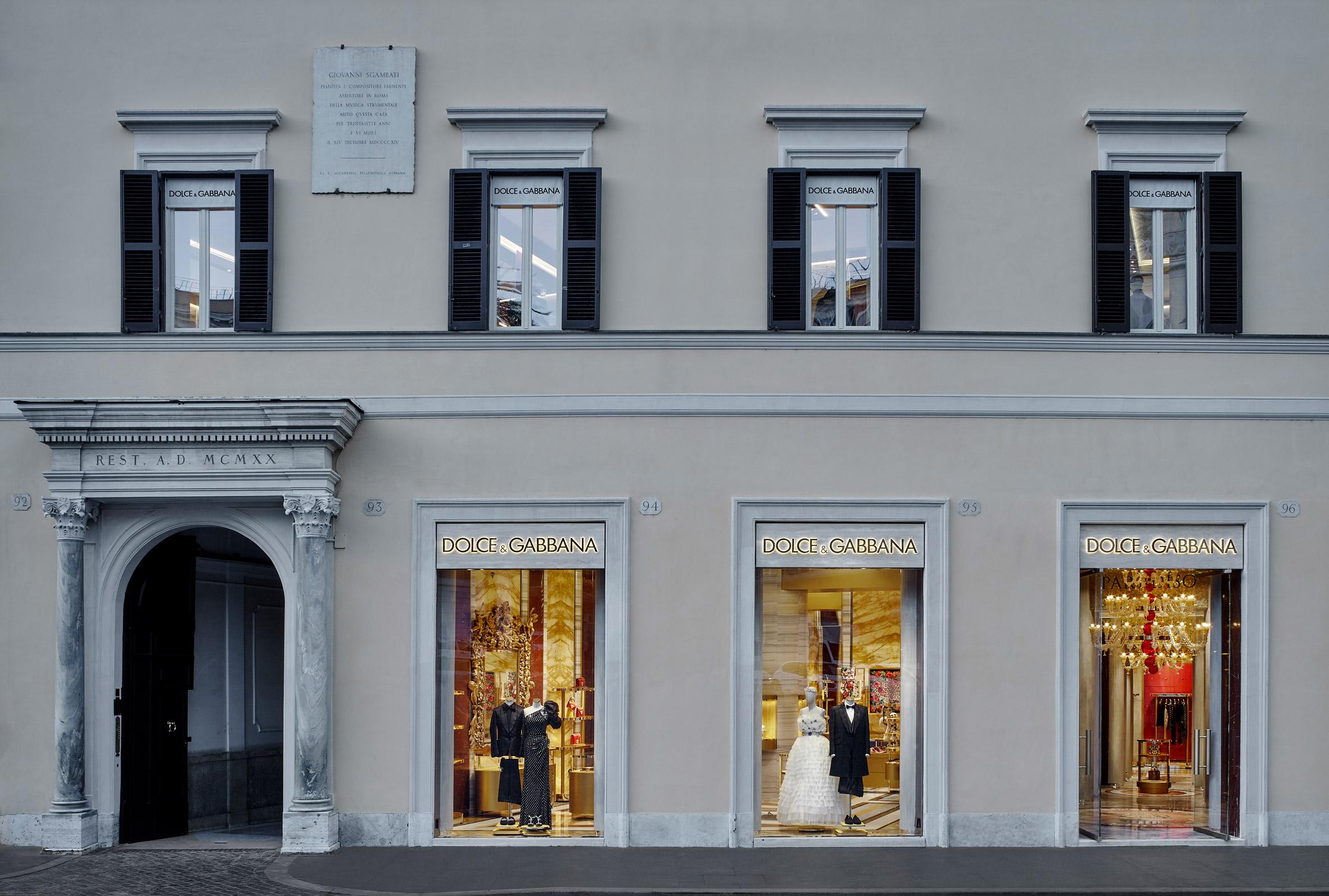Casa Dolce Casa Roma dolce & gabbana's rome store features a digital fresco
