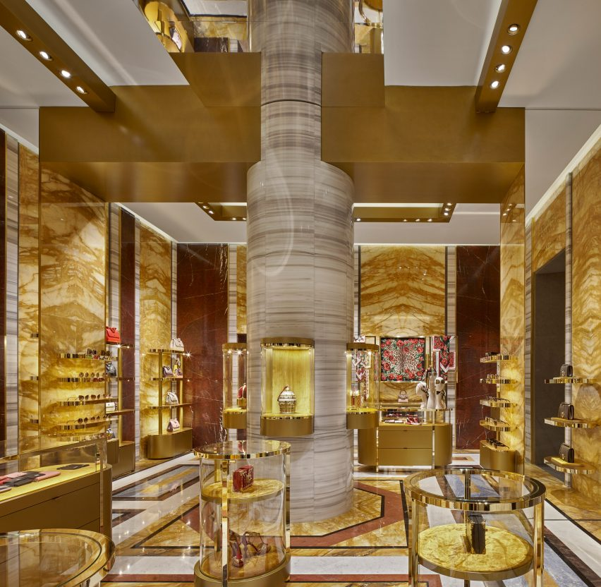Dolce & Gabbana Piazza di Spagna store by Carbondale features digital fresco