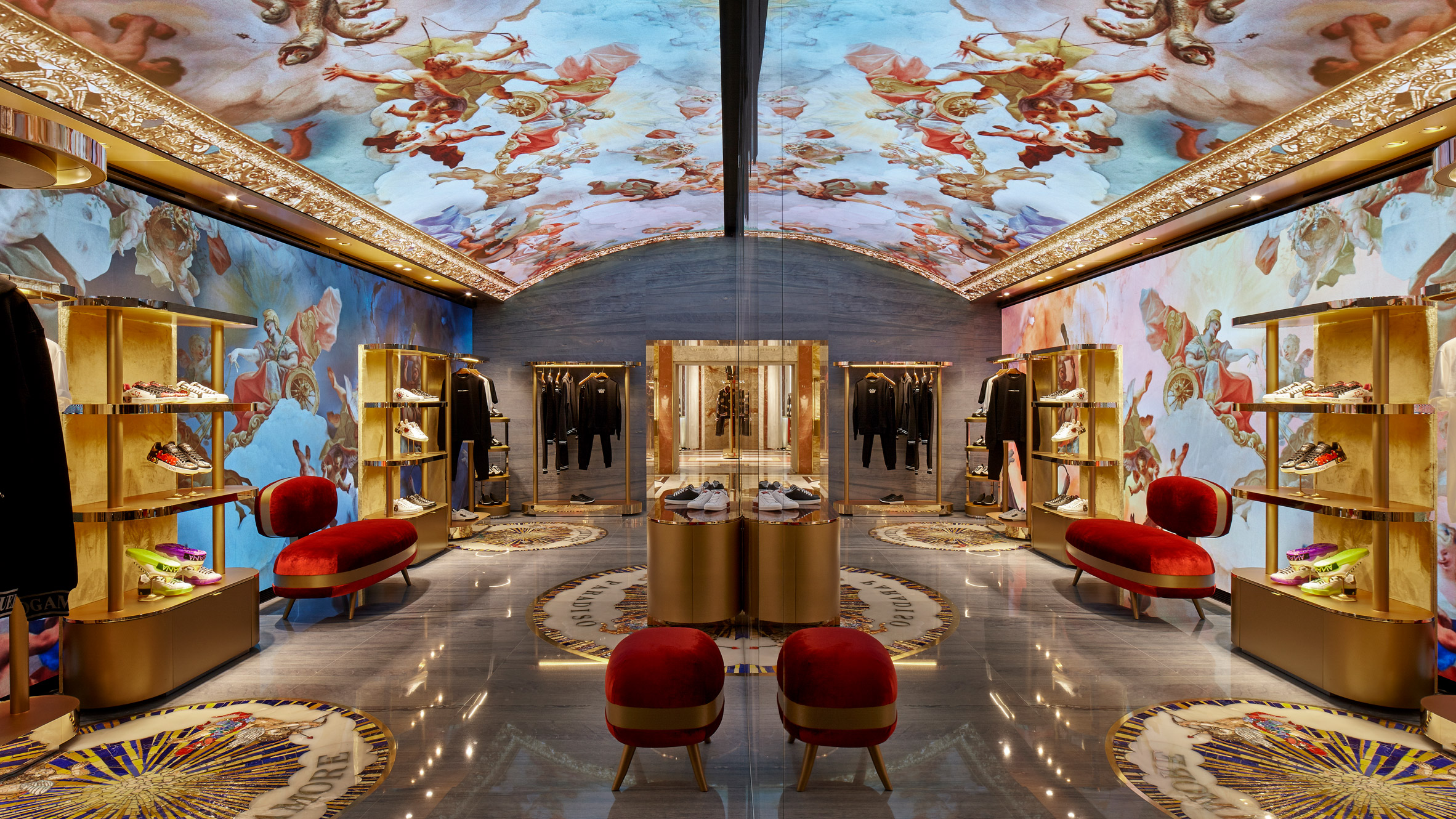 b11494c9c2a1 Dolce & Gabbana's Rome store features a digital fresco