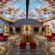 Dolce & Gabbana's Rome store features a digital fresco
