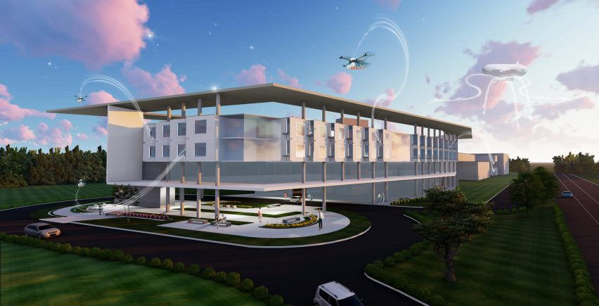 Drone-powered hospital by Leo A Daly