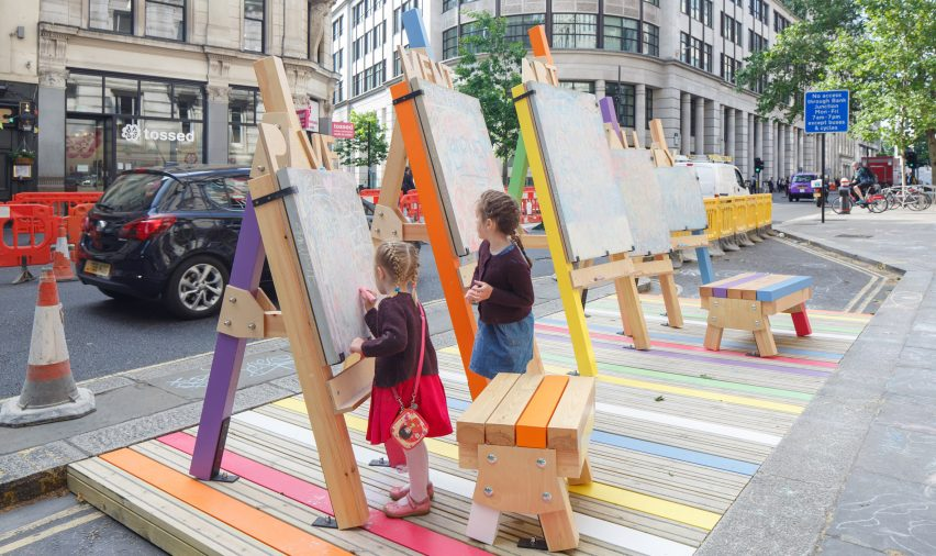 Fatkin, Patrick McEvoy and PATRI create city parklets in central London