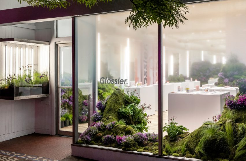 Glossier pop-up shop in Seattle, Washington, by Glossier Experiential Team and Studio Lily Kwong