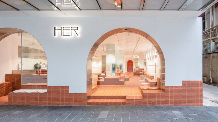 Her cafe and shop in Hong Kong, designed by Clap