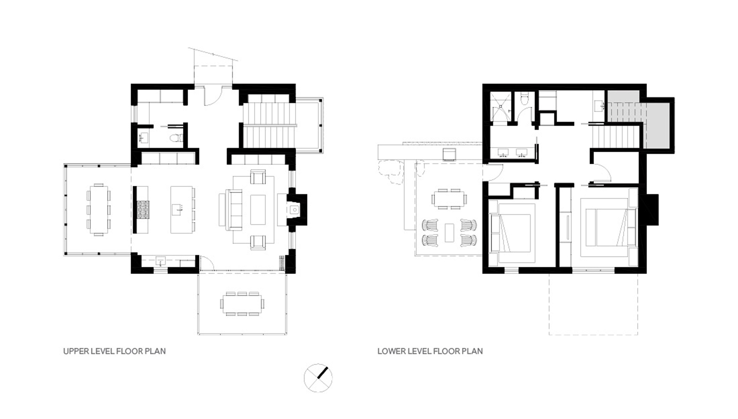 main house floor plans hillside sanctuary and guest house by hoedemaker  pfeiffer in washington state