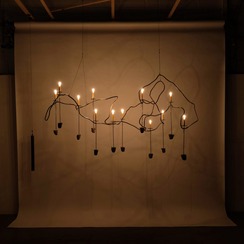 JamesPlumb transforms demolition waste into collection of chandeliers and candelabra