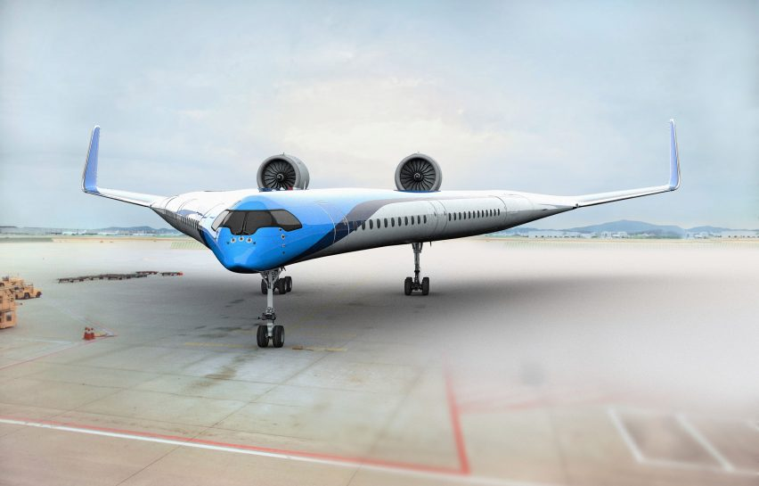 Flying-V by KLM and TU Delft