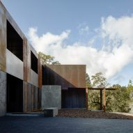 Weathering steel is showcased on our Pinterest board