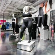 A redesign of the women's floor of Nike's London flagship shops includes plus-size mannequins and para-sport mannequins to model its clothing ranges.