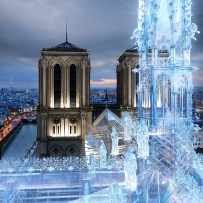 Eight Inc proposal for Notre-Dame roof in structural glass