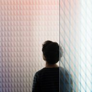 Colour and pattern intersect in Bouroullec brothers' glass panel collection