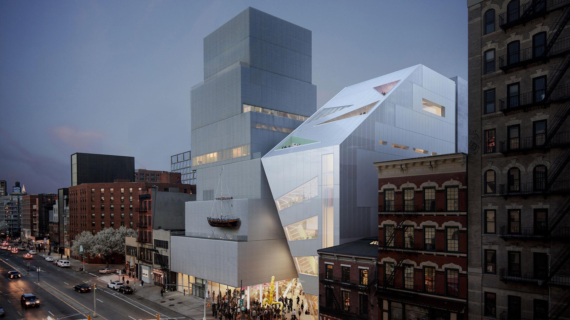OMA Designs Angular Extension For SANAA's New Museum In Manhattan Custom New Art Museum Sanaa