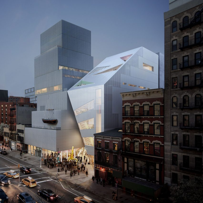 OMA designs angular extension for SANAA's New Museum in Manhattan