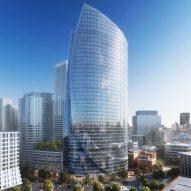 Pelli Clarke Pelli unveils folded glass One Congress tower in Boston