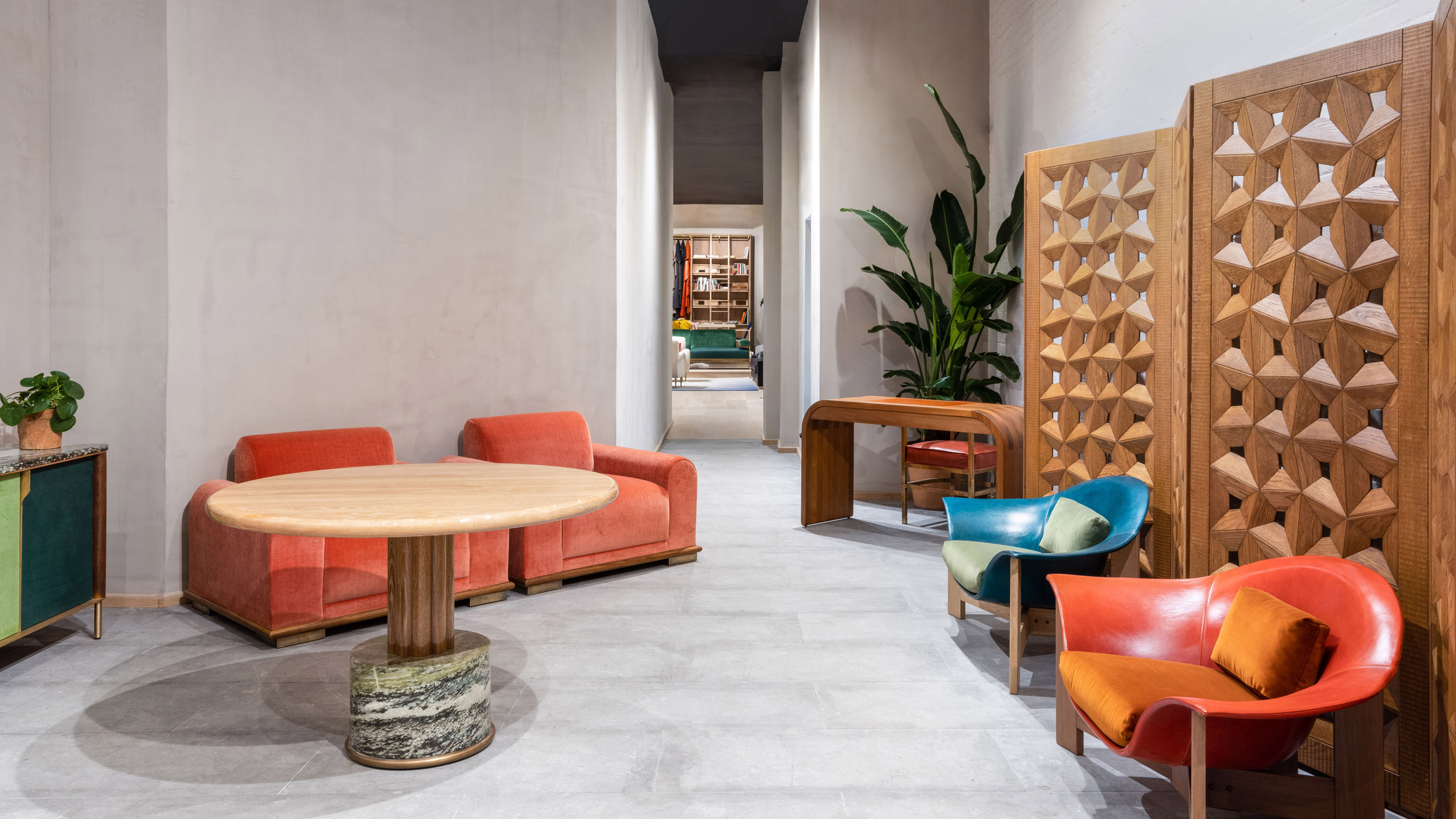 Tremendous Orior Revives Colourful Retro Furniture In New York Showroom Dailytribune Chair Design For Home Dailytribuneorg