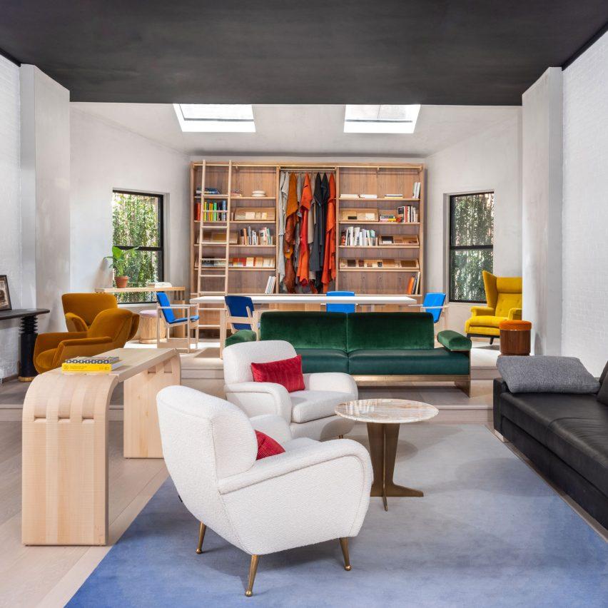Orior revives colourful retro furniture in New York showroom