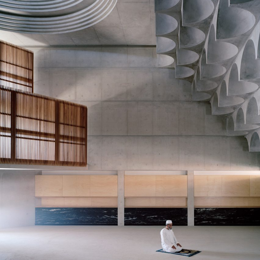 Traditional Islamic architecture informs ornamental concrete vaulting in Punchbowl Mosque