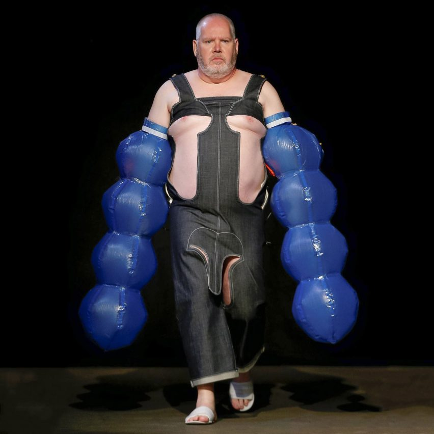 San Kim channels fetishistic Freudian theories in inflatable fashion collection