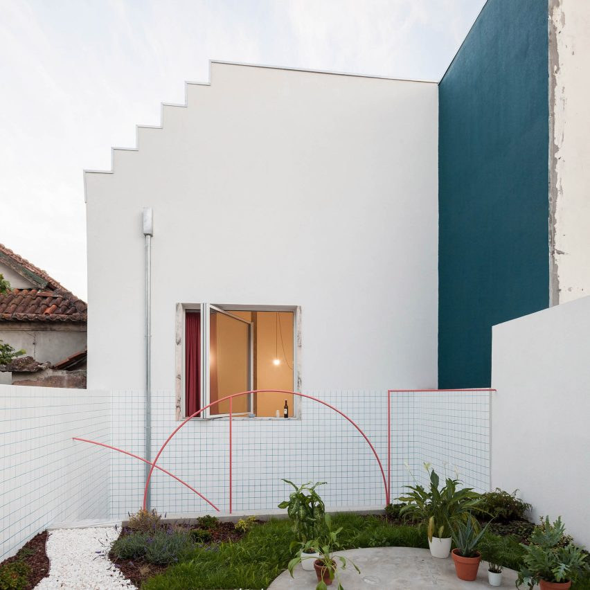 Small Garden Designs And Layouts, Fala Atelier Adds Colour To A 19th Century House In Porto Autocad Design Pro Autocad Blocks Drawings Download